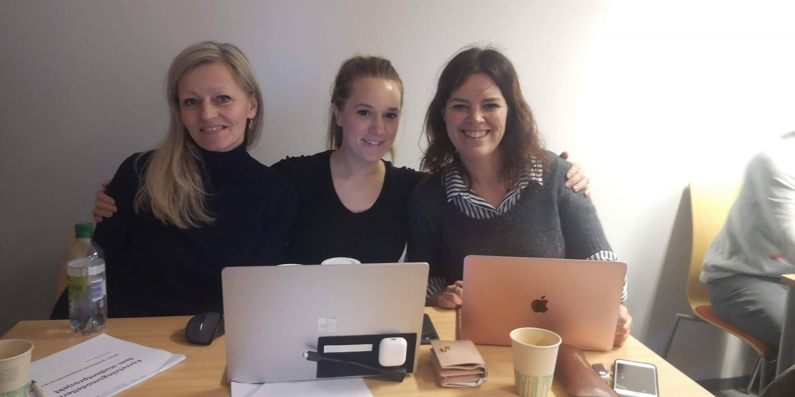 Fra venstre: Gry Isabel Sannes, Vibeke Bjaanes og Hilde Garlid. Foto: Live Kolstad Kvalsvik.